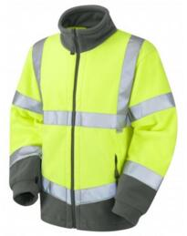 HiVis Hartland Fleece Jacket - Yellow