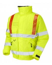 HiVis Superior Orange Brace Bomber Jacket - Yellow