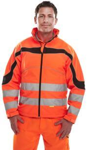 HiVis Eton Softshell Jacket - Orange