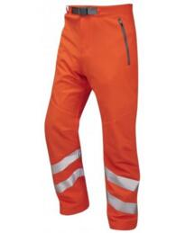 Leo HiVis Stretch Trousers Rail Spec - Orange