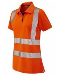 HiVis GO/RT CoolViz Ladies Polo Shirt - Orange