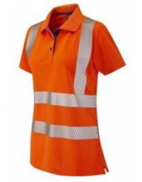 Leo HiVis GO/RT CoolViz Ladies Polo Shirt - Orange