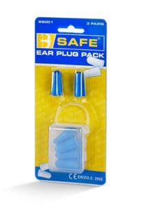 B-Safe Foam Ear Plugs - Pack of 3