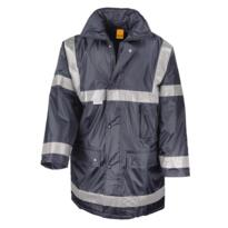 HiVis Management Parka Jacket from Workguard - Navy Blue