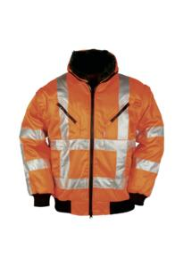 HiVis Sioen GO/RT Eagle Winter Bomber Jacket - Orange