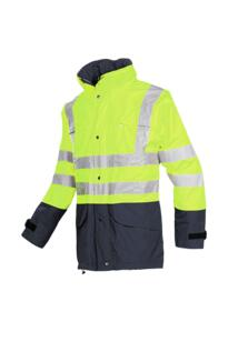 HiVis Sioen Brighton Parka Jacket - Yellow
