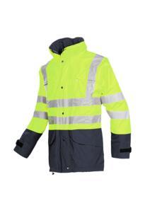 HiVis Sioen Brighton Parka Jacket - Yellow