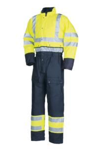 HiVis Sioen Rabaul Winter Rain Coverall - Yellow