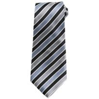 Premier Candy Stripe Tie - Black / Grey