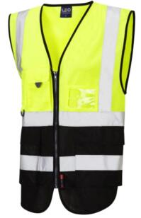 HiVis Two Tone Executive Vest - Yellow / Black