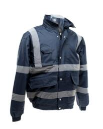 HiVis Security Bomber Jacket - Navy Blue