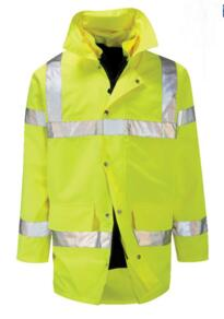 HiVis Breathable 4 in 1 Parka Jacket - Yellow