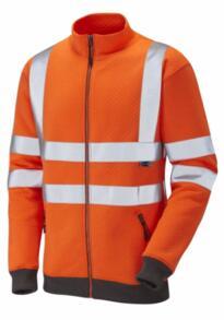 Leo HiVis Libbaton Class 3 Track Top - Orange