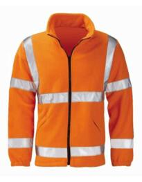 Hivis Zipped Interactive GO/RT Fleece Jacket - Orange