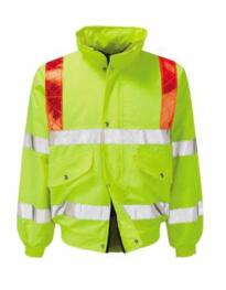 Foil Hivis Traffic Bomber Jacket - Yellow