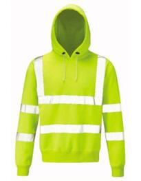 Hivis Hooded Sweatshirt - Yellow