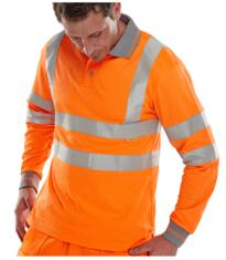 GO/RT Long Sleeved Polo Shirt - Orange