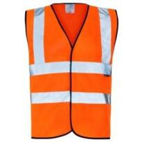 Hivis Sleeveless Vest - Orange