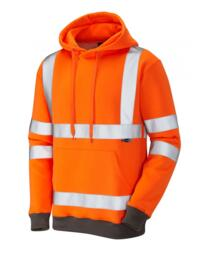 Goodleigh Hivis Hooded Sweatshirt - Orange