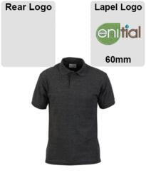 Enitial Polo Shirt [Embroidered] - Charcoal
