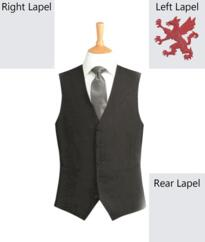 Broughton Park Ritz Waistcoat [Embroidered] - Charcoal