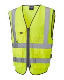 Barnstaple Hivis Pull Apart Waistcoat - Yellow