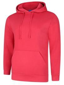 Deluxe Hooded Sweatshirt - Cranberry