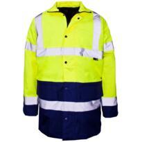 Hivis Two-Tone Parka Jacket - Yellow/Navy