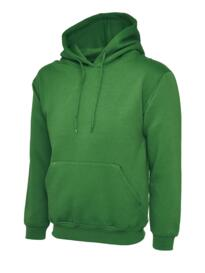 Uneek Hooded Sweatshirt - Kelly Green