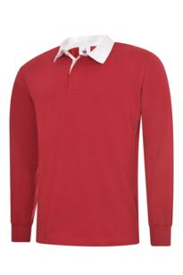 Uneek Classic Rugby Shirt - Red