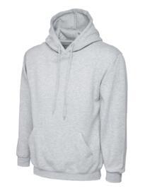 Uneek Premium Hooded Sweatshirt - Heather Grey