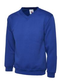 Uneek Childrens V Neck Sweatshirt - Royal Blue