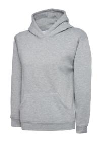 Uneek Childrens Hooded Sweatshirt - Heather Grey