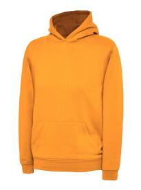 Uneek Childrens Hooded Sweatshirt - Orange