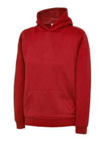 Uneek Childrens Hooded Sweatshirt - Red