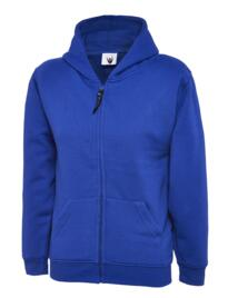 Uneek Childrens Classic Full Zip Hooded Sweatshirt - Royal Blue