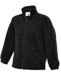 Uneek Childrens Full Zip Micro Fleece Jacket - Black