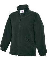 Uneek Childrens Full Zip Micro Fleece Jacket - Bottle Green