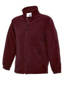 Uneek Childrens Full Zip Micro Fleece Jacket - Maroon