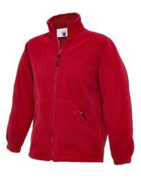 Uneek Childrens Full Zip Micro Fleece Jacket - Red
