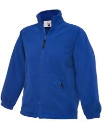 Uneek Childrens Full Zip Micro Fleece Jacket - Royal Blue