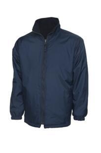 Uneek Childrens Reversible Fleece Jacket - Navy Blue