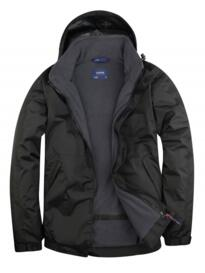 Uneek Premium Outdoor Jacket - Black / Grey