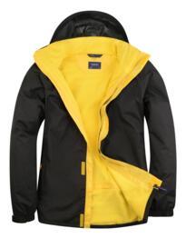 Uneek Deluxe Outdoor Jacket - Black / Submarine Yellow
