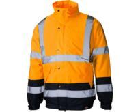 Dickies High Visibility Two Tone Pilot Jacket  - Orange