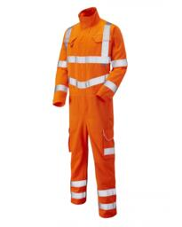 Molland Class 3 Poly Cotton Coverall Orange from Leo workwear - Orange