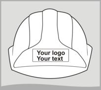 Replacement Hard Hat Sticker - White