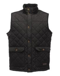 Regatta TRA810 Tyler Diamond Quilt Bodywarmer - Black