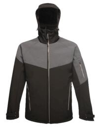 Regatta TRA601 X-Pro Dropzone II Softshell Jacket - Black / Seal Grey