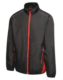 Athens tracksuit top from Regatta - Black / Classic Red